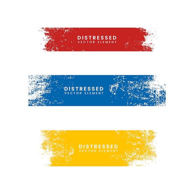 Kolorowe zakłopotane banery Darmowych Wektorów
