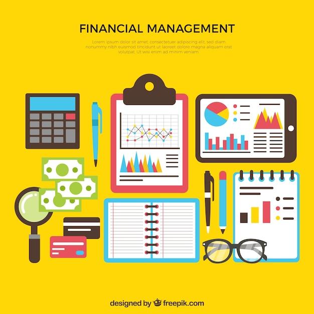 Kolorowe Zestaw Elementów Finansów Darmowych Wektorów