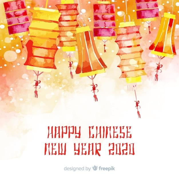 Kolorowy chiński nowego roku tło Darmowych Wektorów