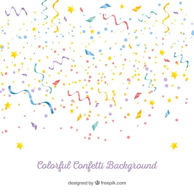 Kolorowy Confetti Tło W Realistycznym Stylu Darmowych Wektorów