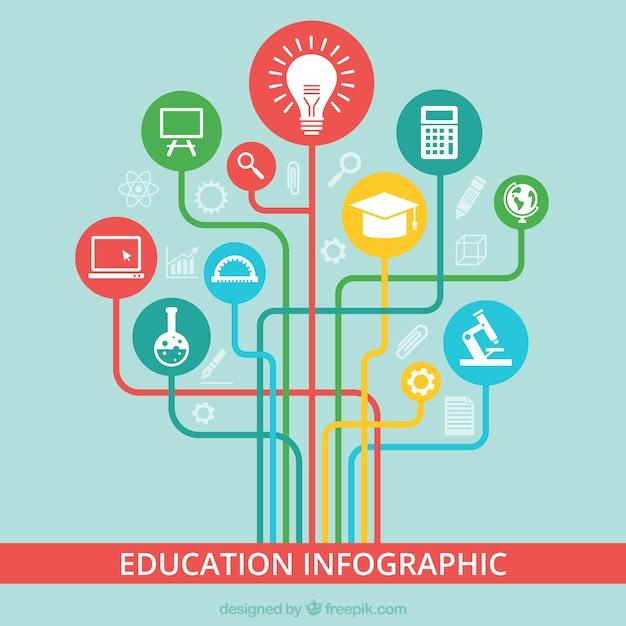 Kolorowy Edukacja Infografika Darmowych Wektorów