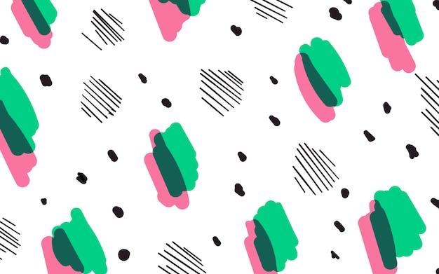 Kolorowy geometryczny styl memphis tło Darmowych Wektorów