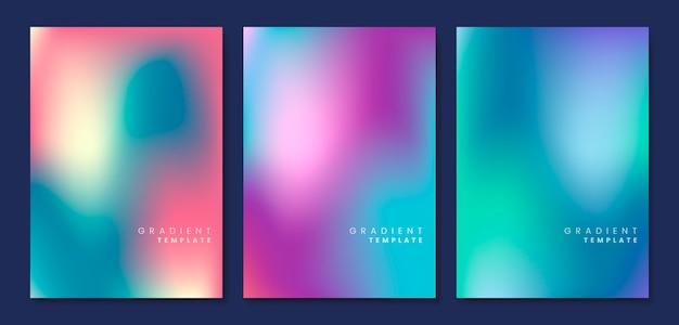 Kolorowy i niewyraźne szablon gradientu Darmowych Wektorów