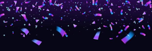 Kolorowy Konfetti Tło Wybuch. Holograficzny Z Efektem Light Glitch. Streszczenie Transparent Premium Wektorów