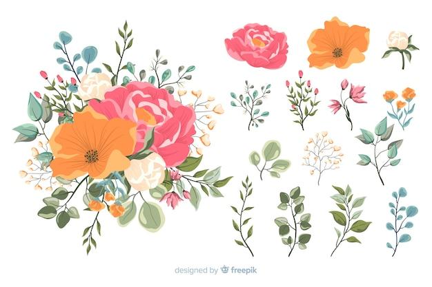 Kolorowy Kwiatowy Bukiet 2d Darmowych Wektorów