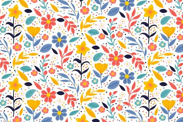 Kolorowy Kwiatowy Wzór Darmowych Wektorów