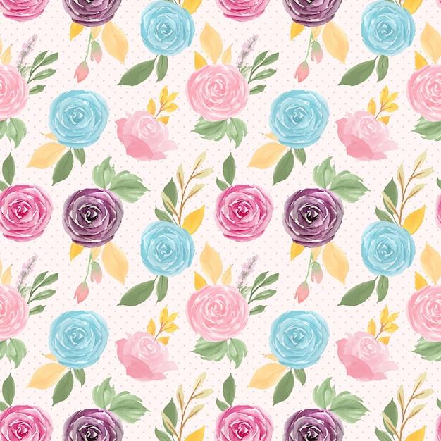 Kolorowy kwiatowy wzór Premium Wektorów