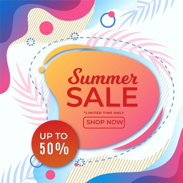 Kolorowy Lato Sprzedaż Transparent Darmowych Wektorów