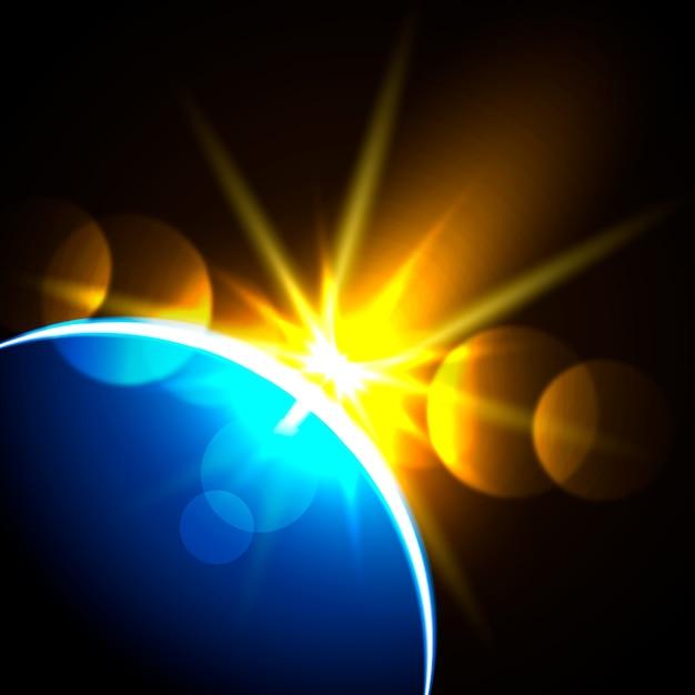 Kolorowy Lekki Wschód Słońca Efekt świetlny Darmowych Wektorów