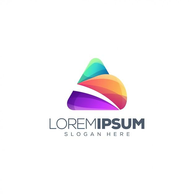Kolorowy List A Logo Premium Wektorów