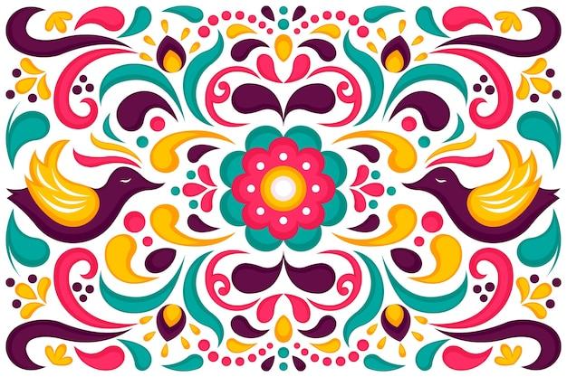 Kolorowy Meksykański Tło Projekt Darmowych Wektorów