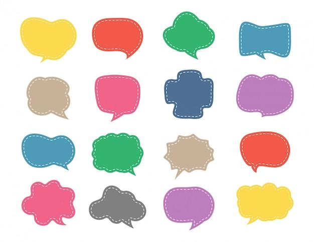 Kolorowy mowy bąbelkowy śliczny set Premium Wektorów