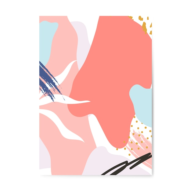 Kolorowy plakat w stylu memphis Darmowych Wektorów