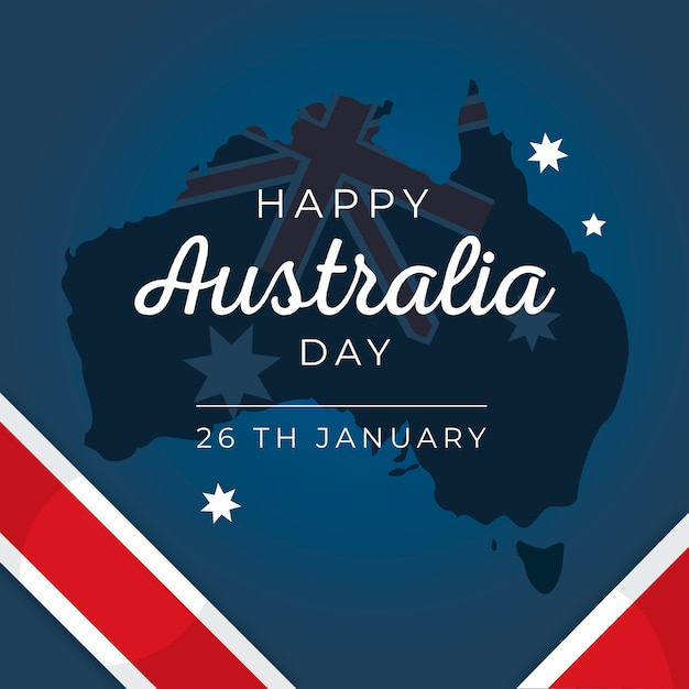 Kolorowy Remis Na Dzień Australii Darmowych Wektorów