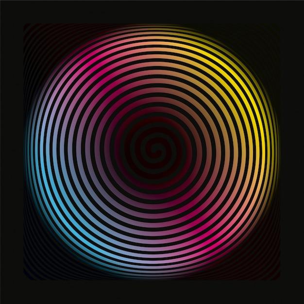 Kolorowy Spirala Tło Wzór Premium Wektorów
