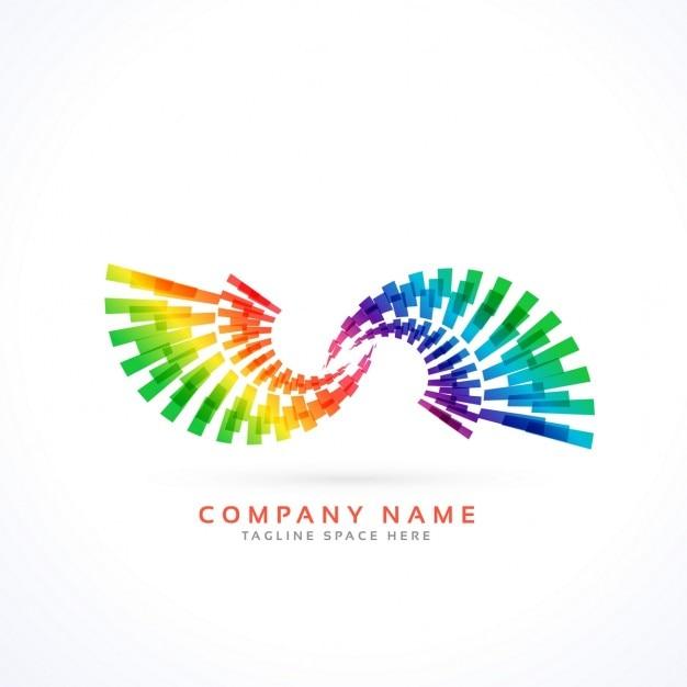 Kolorowy Styl Koncepcja Logo Nieskończoności Darmowych Wektorów