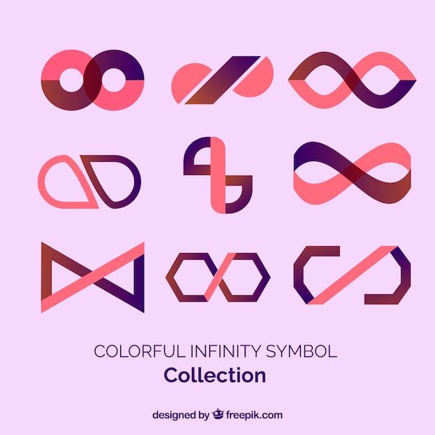 Kolorowy Symbol Kolekcja Nieskończoności Darmowych Wektorów