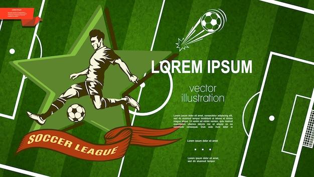 Kolorowy Szablon Ligi Piłki Nożnej Darmowych Wektorów