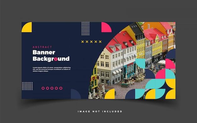 Kolorowy Transparent Tło Dla Mediów Społecznościowych Lub Promocji Reklamy Z Abstrakcyjnym Banerem Premium Wektorów