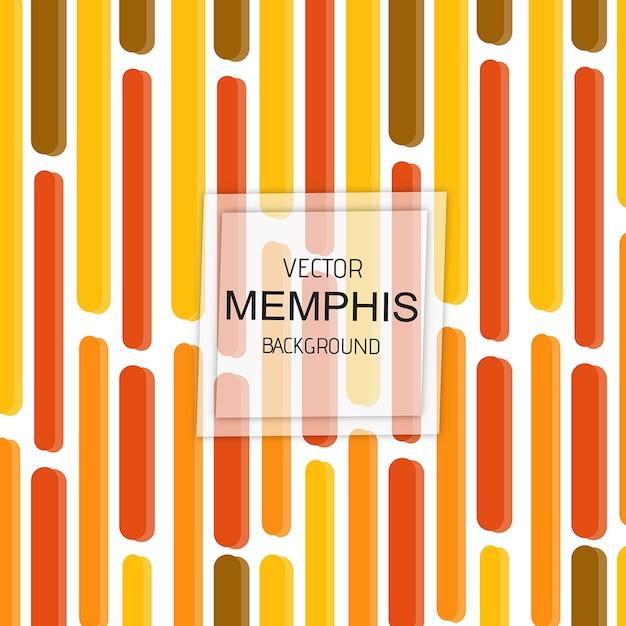 Kolorowy Wektorowy Memphis Tło Premium Wektorów