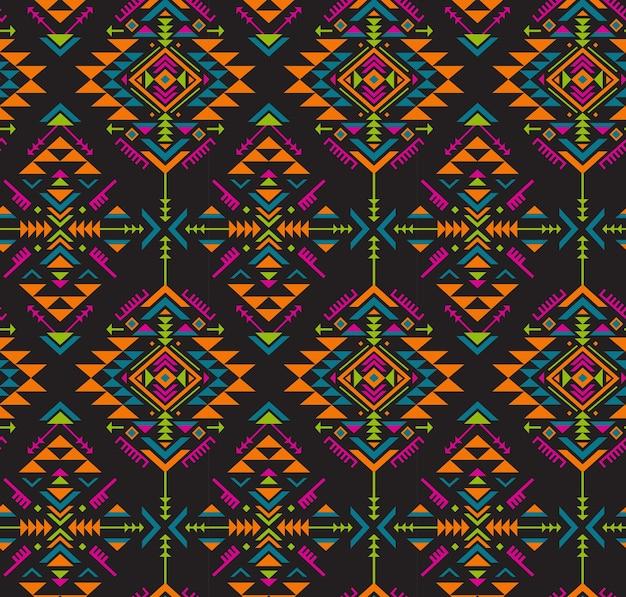 Kolorowy Wzór Bezszwowe Etniczne O Geometrycznych Kształtach Premium Wektorów