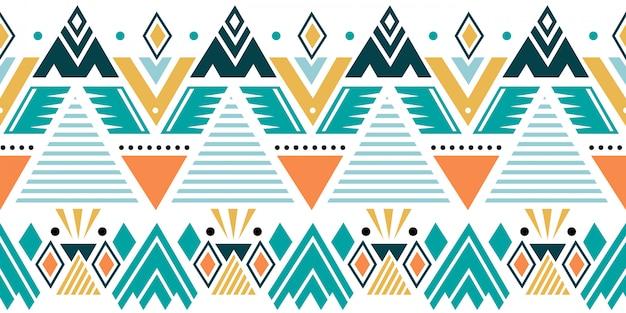 Kolorowy Wzór Etnicznych Z Plemiennych Motywów Geometrycznych Premium Wektorów