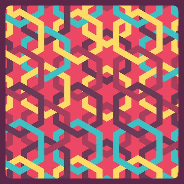 Kolorowy wzór geometryczny Darmowych Wektorów