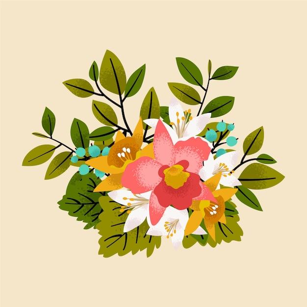 Kolorowy wzór kwiatowy bukiet Darmowych Wektorów