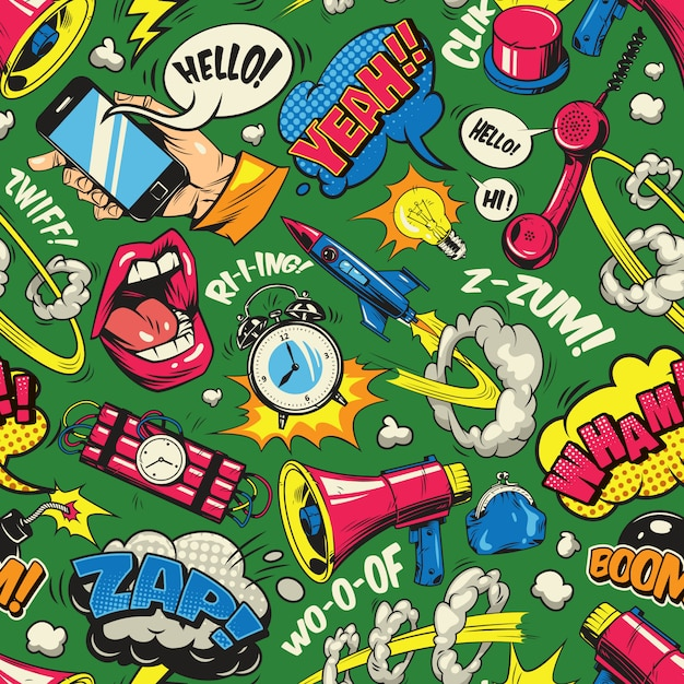 Kolorowy Wzór Pop-artu Darmowych Wektorów