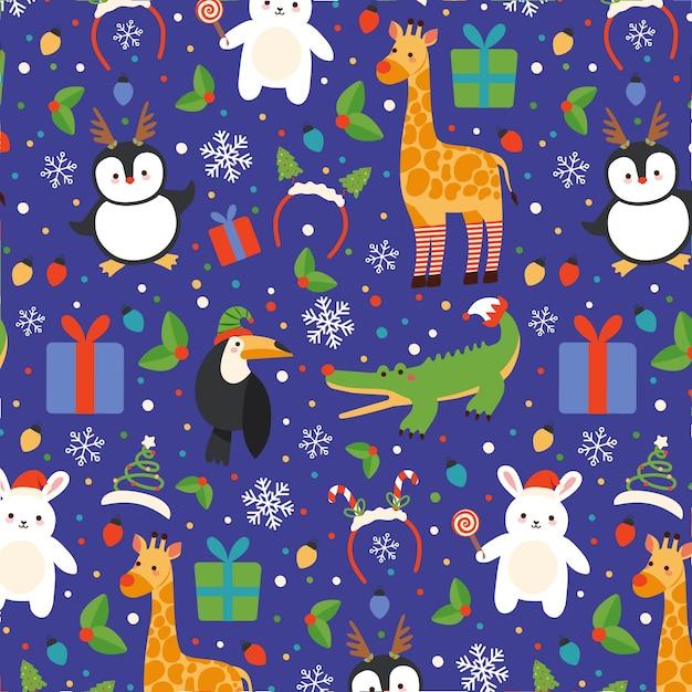 Kolorowy Zabawny Wzór Boże Narodzenie Darmowych Wektorów