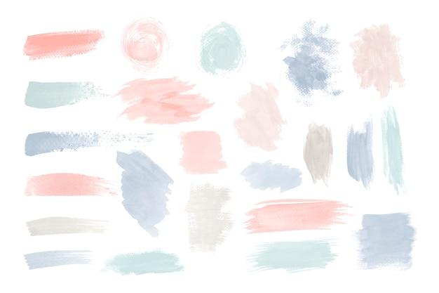 Kolorowy Zestaw Wektor Pociągnięcie Pędzla Darmowych Wektorów