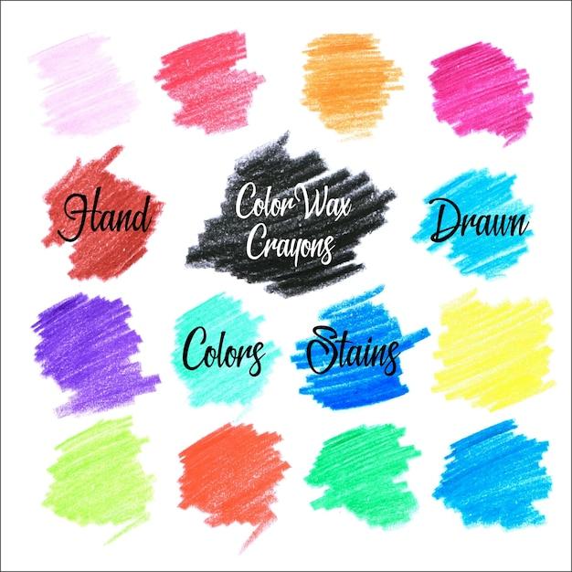 Kolory Plam Farb Woskowych Darmowych Wektorów