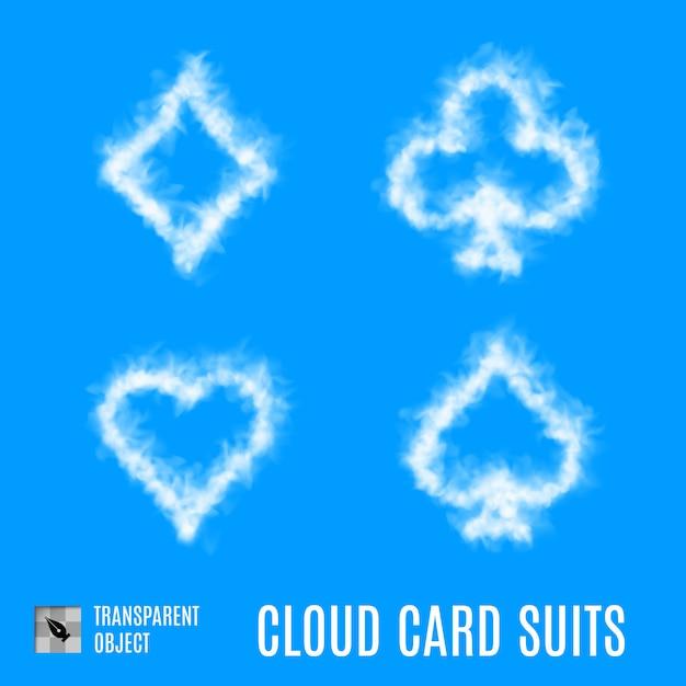 Kombinezony Kart W Chmurze Premium Wektorów