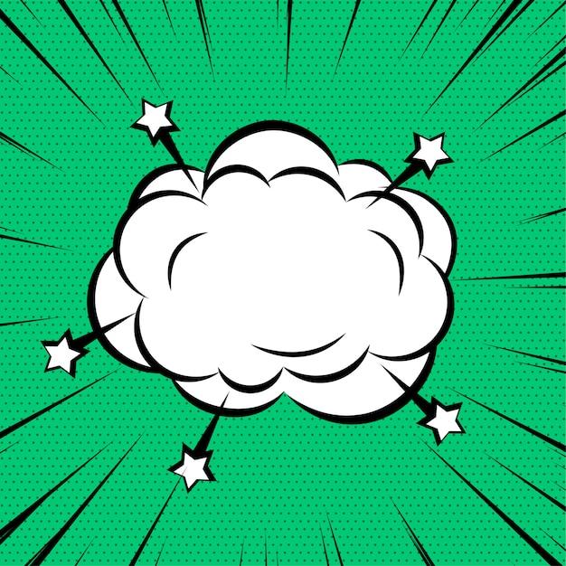 Komiks chmura lub dym na zoom linie tła Darmowych Wektorów