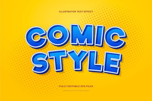 Komiksowy Efekt Tekstowy Darmowych Wektorów