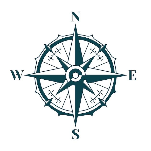 Kompas Róża Wiatrów Wektor Premium Pobieranie