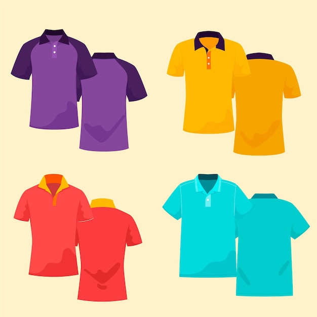 Komplet Koszulek Polo Darmowych Wektorów