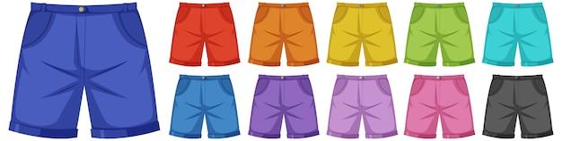 Komplet Męskich Spodni Premium Wektorów