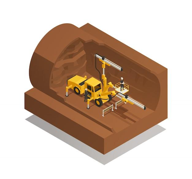 Kompozycja budowy tunelu Darmowych Wektorów