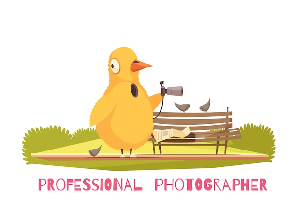 Kompozycja kostiumowa z kurczaka paparazzi Darmowych Wektorów