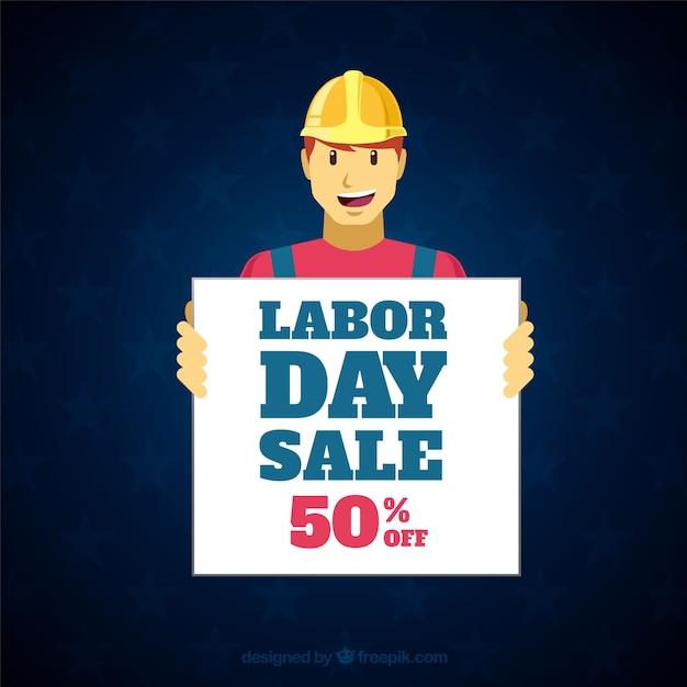 Kompozycja Sprzedaży Dzień Pracy Z Płaskiej Konstrukcji Darmowych Wektorów