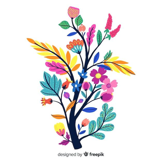 Kompozycja Z Kwiatów I Gałęzi Darmowych Wektorów