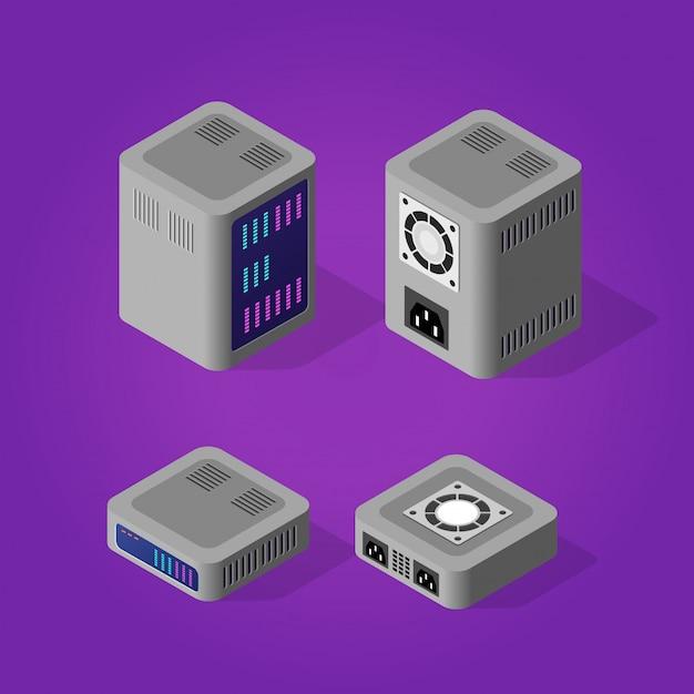 Komputerowy Serwer Mocy Premium Wektorów