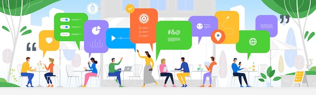 Komunikacja w globalnych sieciach komputerowych Premium Wektorów