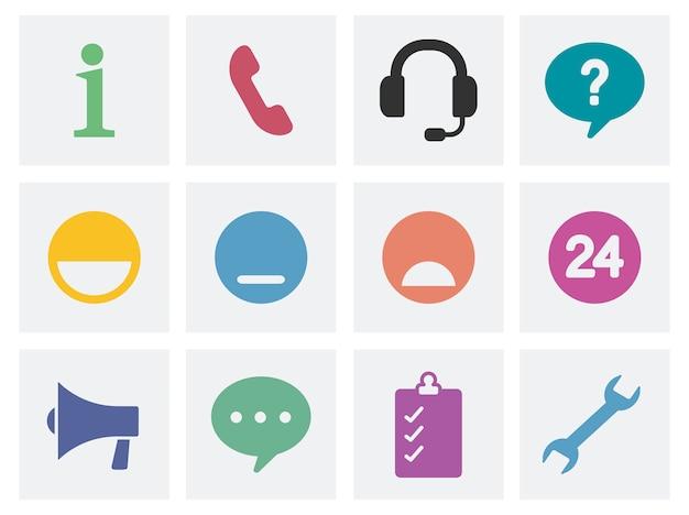 Komunikacyjne pojęcie ikony ilustracyjne Darmowych Wektorów