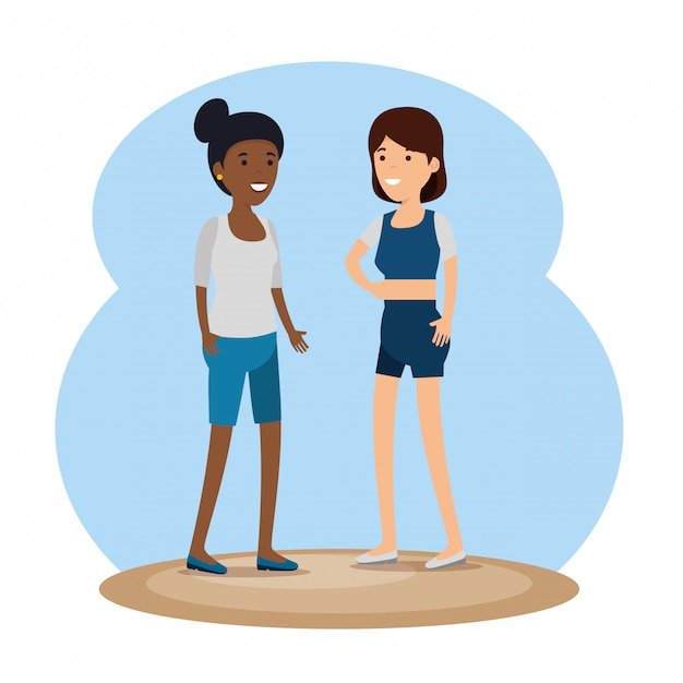 Komunikat społecznościowy znajomych dziewczyn Darmowych Wektorów