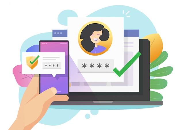 Komunikat Wypychający Kod Weryfikacyjny Loginu Do Hasła Premium Wektorów