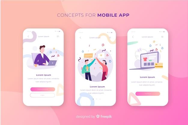 Koncepcja aplikacji mobilnej Darmowych Wektorów
