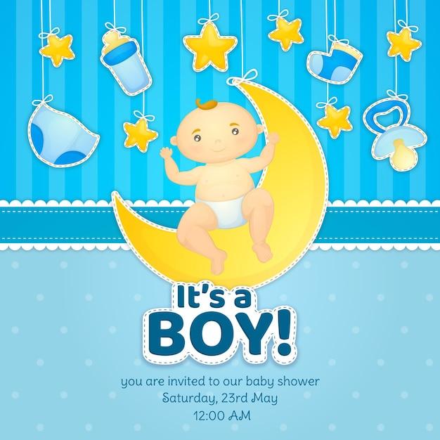 Koncepcja Baby Shower Darmowych Wektorów
