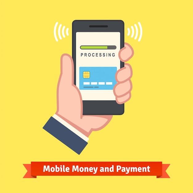 Koncepcja bankowości mobilnej Darmowych Wektorów